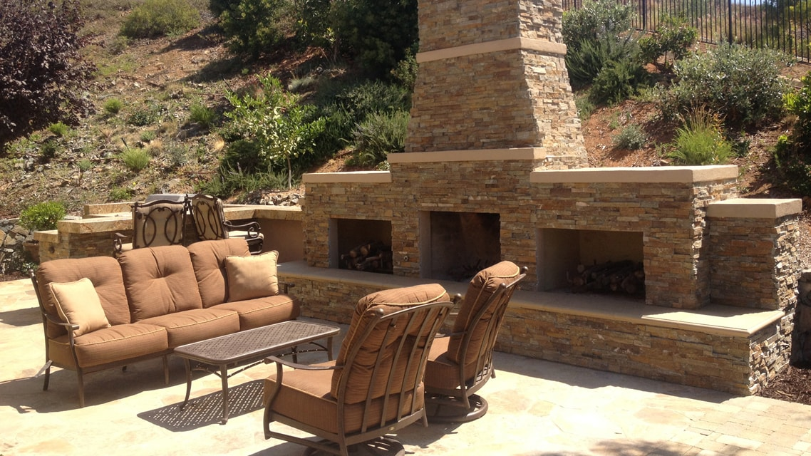 Outdoor Garden Stone Masonry on additions with stone